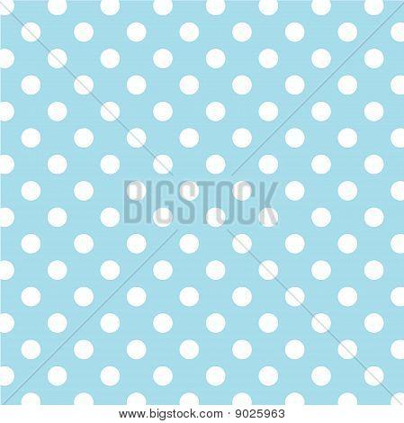 Pastel Aqua, Big White Polka Dots