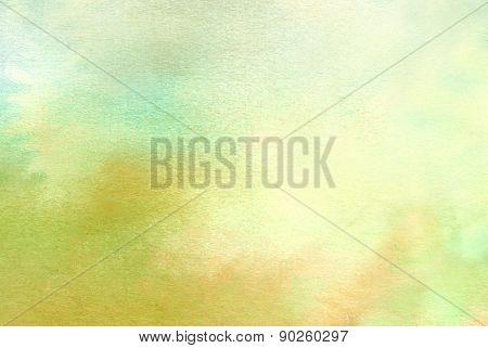 Green watercolors