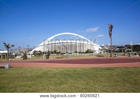 Grass And Promenade In Front Of Moses Mabhida Stadium