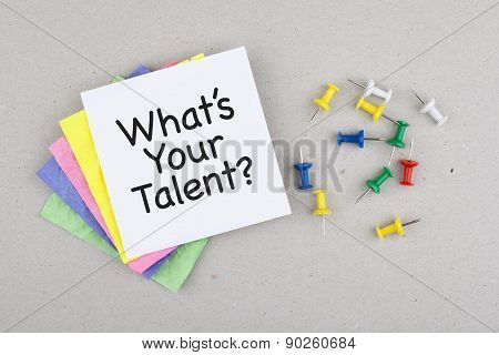 What is your talent phrase