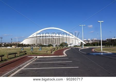 Empty Parking Bays In Front Of Moses Mabhida Stadium