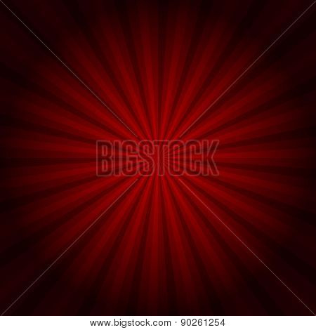 Red Background Texture With Sunburst. Vector Eps10 Illustration.