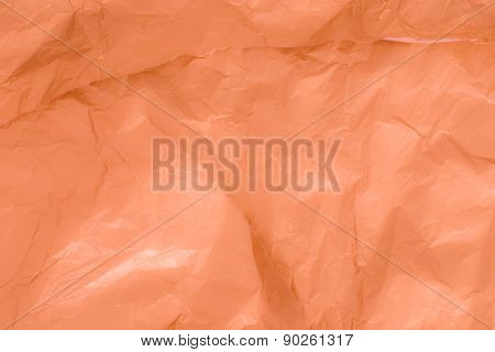 Orange crumpled paper texture