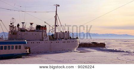 Gefrorene Port