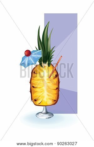 cocktail decor styled exotic fruit