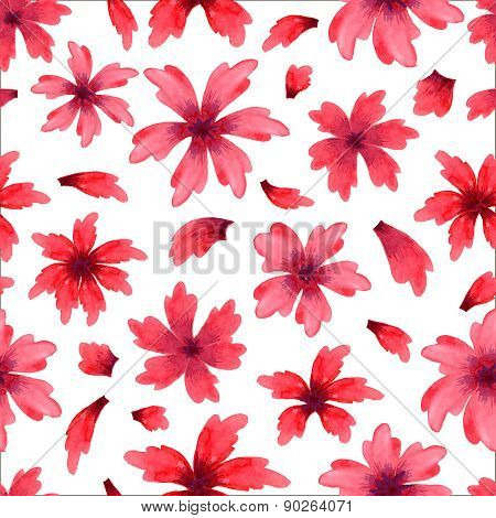 Seamless pattern from water color flowers