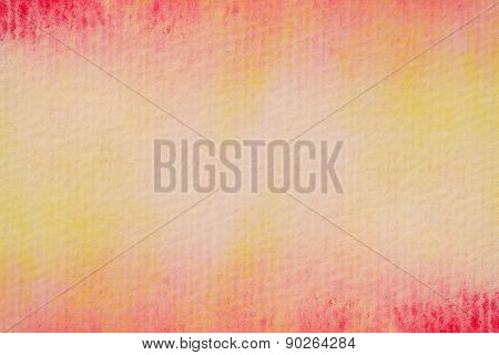 intense red yellow watercolors