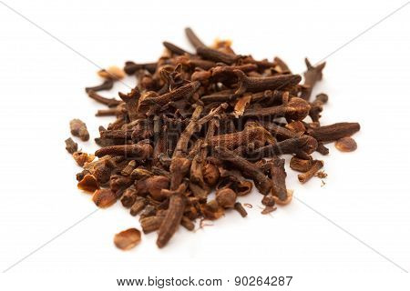 group of cloves isolated on white