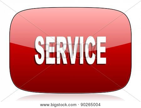 service red glossy web icon