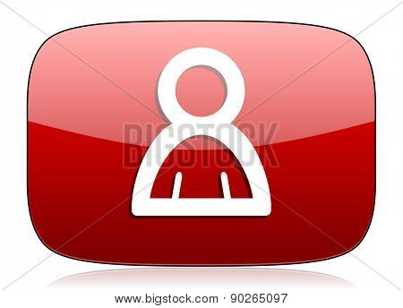 person red glossy web icon