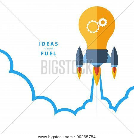 Ideas is your fuel. Concept for creativity, big idea, creative work, starting new project.
