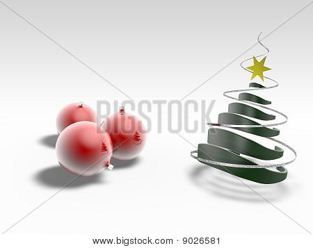 Christmas Tree With Christmass Ball