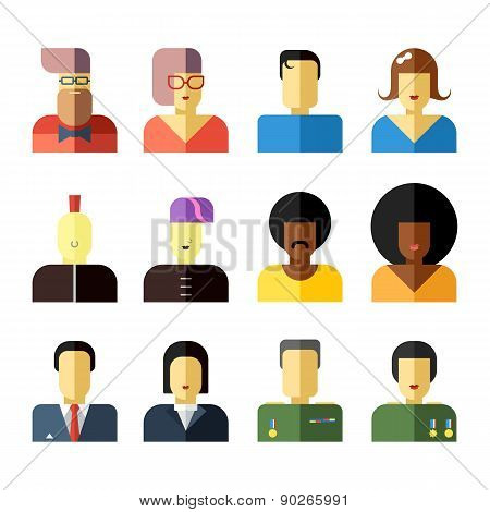 People Flat icons collection.