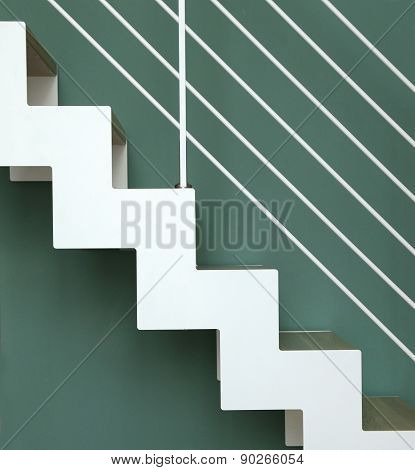 White Stairs Going Up