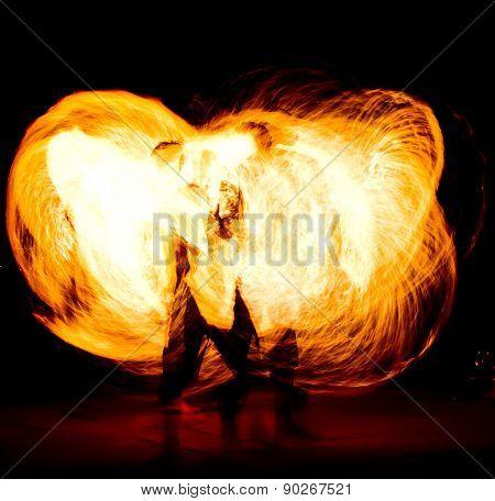 Burning Man Abstract Drawing