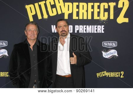 LOS ANGELES - MAY 9:  Eric Braeden, Christian Gudegast at the
