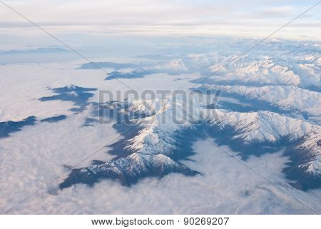 andes mountains sky and white clouds