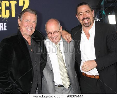 LOS ANGELES - MAY 9:  Eric Braeden, Paul Brooks, Christian Gudegast at the