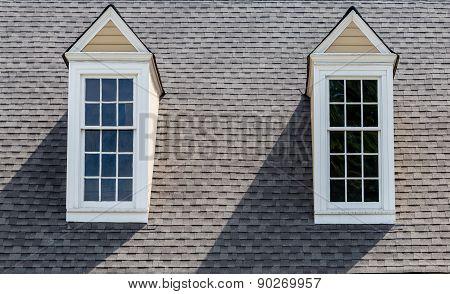Two Dormers On Asphalt Roof