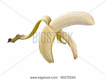 Banana Peel Isolated With Clipping Path