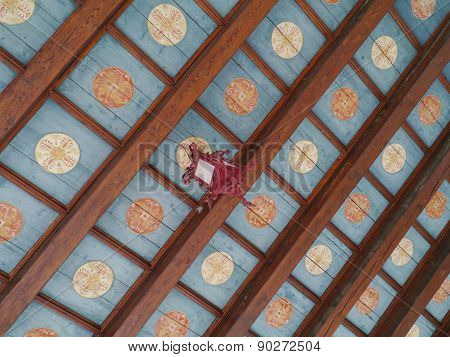 The ceiling of the loggia of Trogir