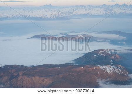 Andes mountains - aerial view