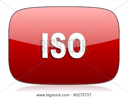 iso red glossy web icon