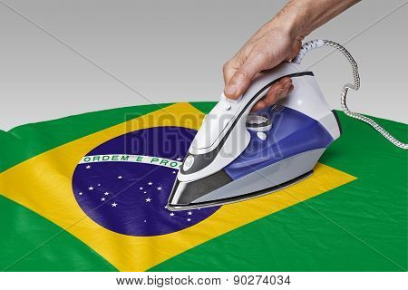 Smooth Out The Wrinkles Of Flag-brazil