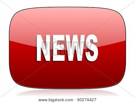 news red glossy web icon
