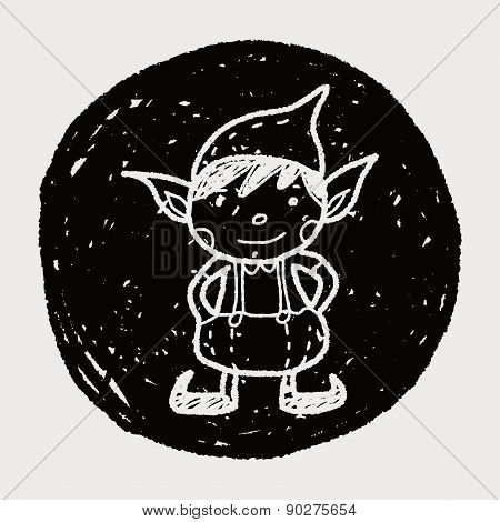 Christmas Elf Doodle