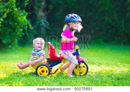 Two Kids On A Bike