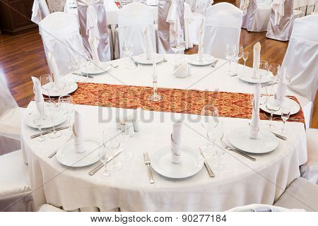 Beautifully Organized Event - Served Round Table