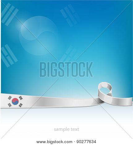 Flag Of South Korea On Background