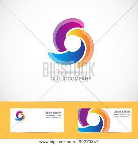 Spiral Swirl Rotation Logo