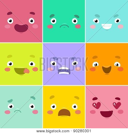 Cartoon faces.