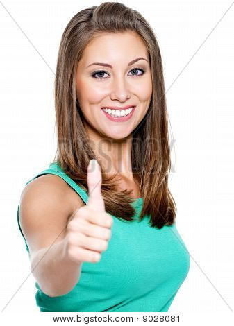 Woman Showing A Thumbs Up