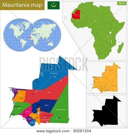 Administrative division of the Islamic Republic of Mauritania