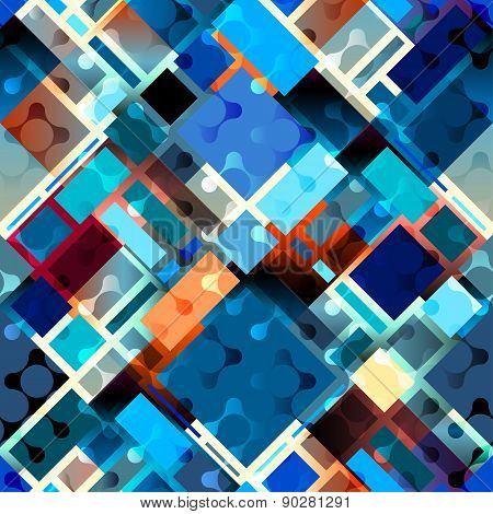 Blue geometric diagonal pattern