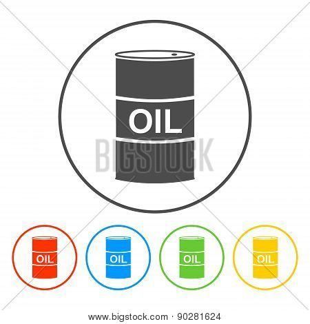 Vector Icon Barrels Of Oil