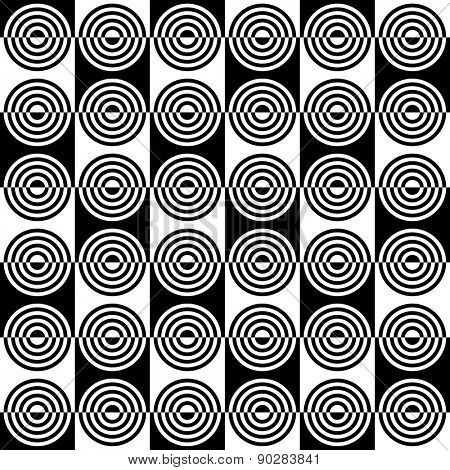 Seamless Circle Pattern. Vector Regular Texture