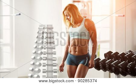 Young muscular woman