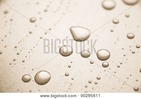 Oil drops on a pan
