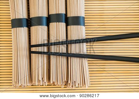 Bundles Of Soba Noodles