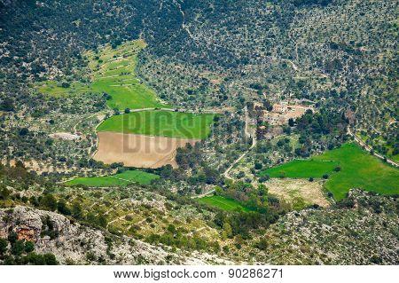 Unrecognizable Farm In Majorca