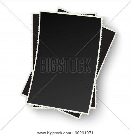 Heap Of Old Photo Frames Isolated
