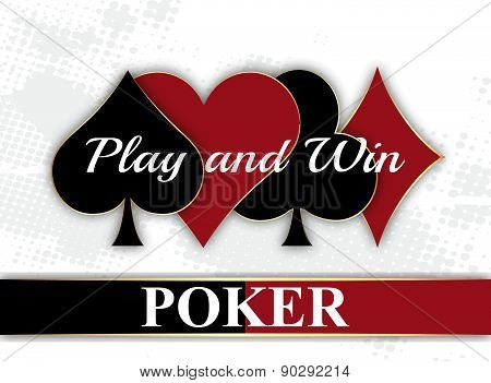 Poker wallpeper with playing card symbol
