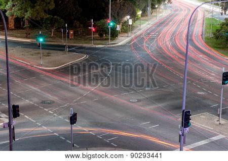 Intersection Light Trails