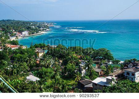Beautiful Dorsal View Unawatuna Sri Lanka