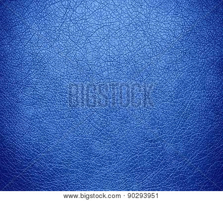 Cornflower blue color leather texture background