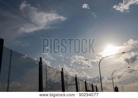 Futuristic Prison Fence